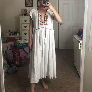 NWOT Free People Embroidered Midi Dress